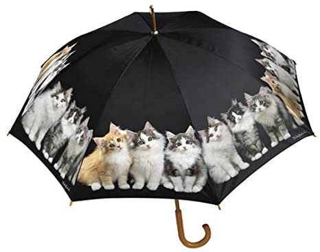 KEITH KIMBERLIN Kittens large stick UMBRELLA cats NEW