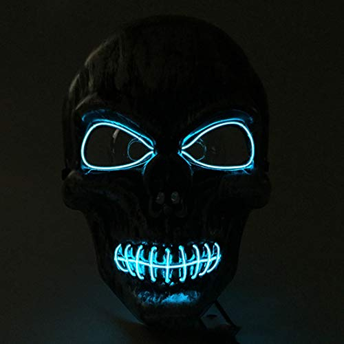 (Party Masks -Halloween Mask Light Up Funny Masks The Purge Election Year Great Festival Cosplay Costume - Masks Headbands Pack Superhero Gold Party Masquerade Stick Couples Bulk Capes)