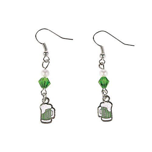 Fun Express - St Pats Green Beer Earring ck for St. Patrick's Day - Craft Kits - Adult Jewelry Craft Kits - Adult Earring - St. Patrick's Day - 6 -
