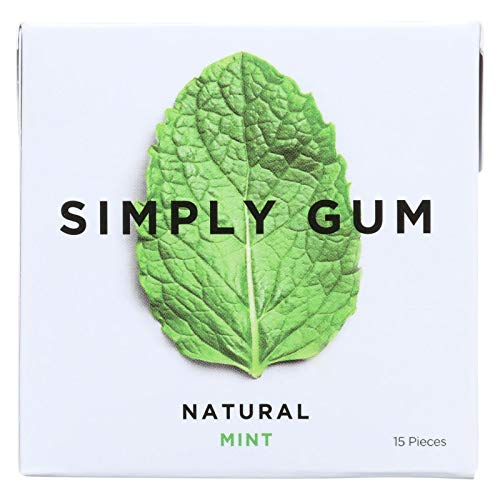 (Simply Gum All Natural Gum - Mint - Pack of 12 - 15)