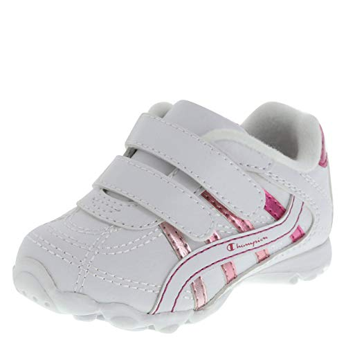 Champion White Pink Girls' Infant Bella Runner 4 Wide