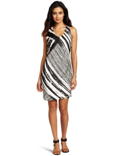 Kenneth Cole New York Women's Painted Strip Print Shift Dress