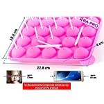 BA-PRO JNXD-119, 20-Cavity Ball Shape Baking Mold, Muffins Cupcakes Cookware Silicone Set, Best for Brownies, Pies, Lollipops, Candies, Jelly and Chocolate, Ice Cream Tray, 228/186/40mm (L/W/H), Pink 16 BAKING EXPERIENCE with ZERO FRUSTRATION It's Humongous: a Multi-Use Cookware of Sturdy yet Flexible Double Tray Cupcake Pan that Will Carry All Baking Endeavors with Embarrassing Ease and Effortless Comfort. Elegant Shape, Available Here in Our USA Stock