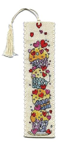 Michael Powell Counted Cross Stitch Bookmark Kit - Cupcakes