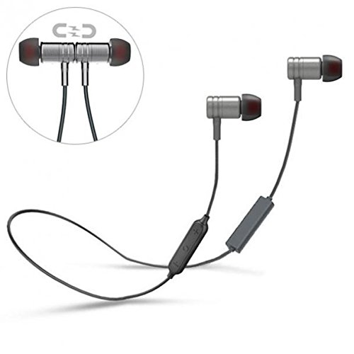 Neck-band Hi-Fi Sports Headset Wireless Earphones Mic Premium Sound Headphones Earbuds Hands-free for T-Mobile HTC One A9 - T-Mobile HTC One M8 - T-Mobile HTC One M9 - T-Mobile LG Aristo (T-mobile Earbud Headset)