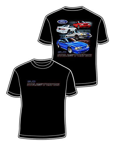 David Carey Ford Fox Body Adult Short Sleeve T-shirt-Black-large - Auto Body Coupe