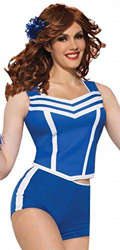 Forum Novelties 78267 Adult Cheerleader Booty Shorts, Standard, Blue ()