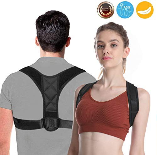 Back Posture Corrector For Men and Women,Upper Back Support Brace for Clavicle Support,Providing Pain Relief from Neck,Back and Shoulder(Universal)