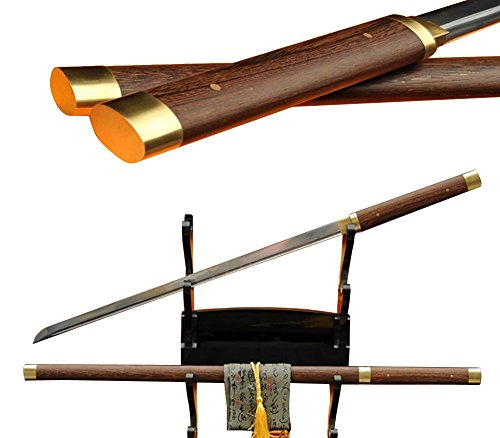 Lyuesword Japanese Ninja Folded Steel Full Tang Shirasaya Katana Hualee Wood