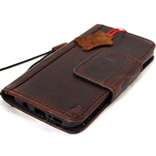 Genuine Natural Leather Case for Samsung Galaxy S8 Plus Book Wallet Luxury Closure Magnetic Cover S Handmade Retro Id Cards Slots s 8 Holder daviscase