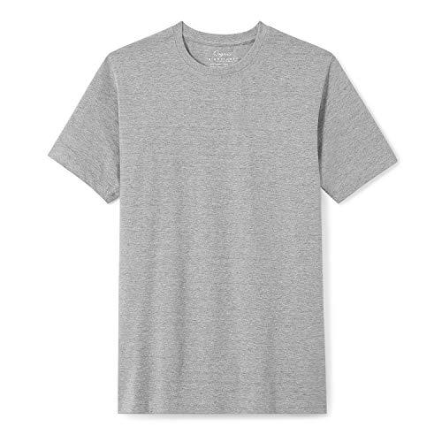 - Organic Signatures Men's Short-Sleeve Crewneck Cotton T-Shirt (Medium, Heather Grey)