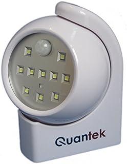 Quantek 10 LED Super brillante luz nocturna funciona con pilas de movimiento inalámbrica automática – Porche
