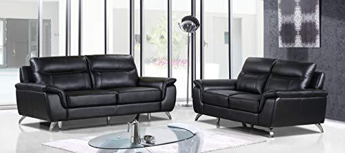 Cortesi Home Leather Sofa & Loveseat Set
