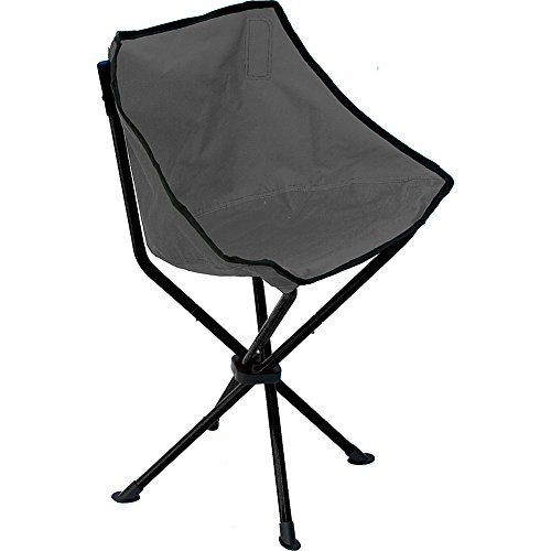 TravelChair Wombat Chair, The Comfort of a Chair with the Body of a Stool, Black