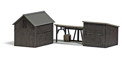 Busch 1595 3木製Sheds Ho構造スケールモデル B06XYJLDZD