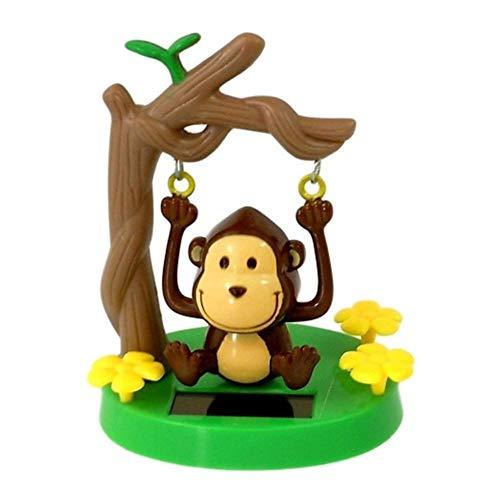 Solar Powered Swinging Monkey Car Desktop Decoration Dancing Animal Swinging Animated Bobble Dancer Toy Car Decor Kids Toys Gift