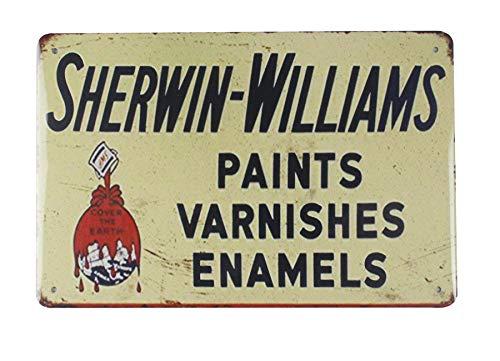 WholesaleSarong Sherwin-Williams Paints varnishes enamels tin Metal Sign Cafe Pub Wall Art Metal Advertising Signs