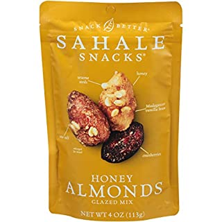 Sahale Snacks Honey Almonds Glazed Mix, 4 Ounces (Pack of 6)