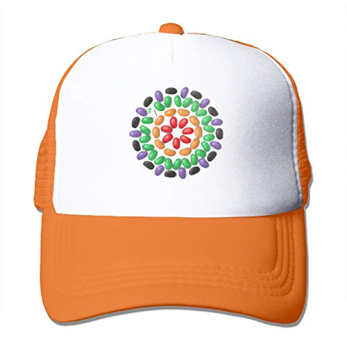 - LSHTZ Easter Jellybean Baseball Cap Adult Made Adjustable Fantasy Hip Hop Relaxed Mesh Hat Orange