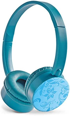 Auriculares Estéreo Hi-Fi Auricular azul con imagen diseño individeuelles Diseño – Cielo verdes margaritas: Amazon.es: Electrónica