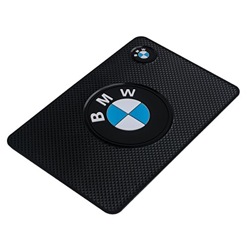 Auto sport High temperature resistance Medium 7.5Inch leather surface Anti-Slip Non-Slip Mat Car Dashboard Pad Mat for Phone, CD, Electronic Devices, keyboard, and other smooth items (BMW)