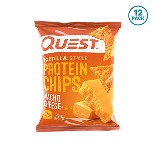 Quest Nutrition Tortilla Style Protein Chips, Nacho Cheese, Low Carb, Gluten...