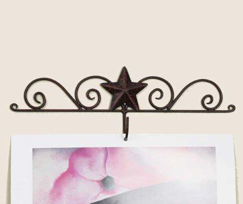 Calendar Holder - Star Calendar Hanger - Crackle Black/red