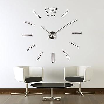 Relojes de pared gigantes reloj de pared moderno nmeros for Vinilo gigante pared