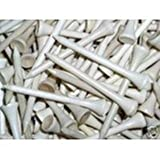 Golf Tees-Deluxe Wood - 2 3/4'' 10K - White