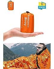 Charminer Notfallzelt,Biwaksack Survival Schlafsack warm Outdoor Tube Zelt wasserdicht leicht hitzeabweisend Kälteschutz Ultraleicht Rettungszelt für Camping im Freien und Wandern 2 Packung