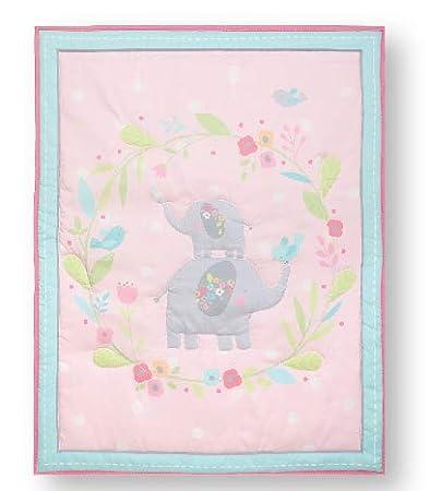 MalAk 3 Pieces Crib Bedding Set for Boys Lion /& Elephants /& Giraffe /& Monkey Cute Animal Designs Blue