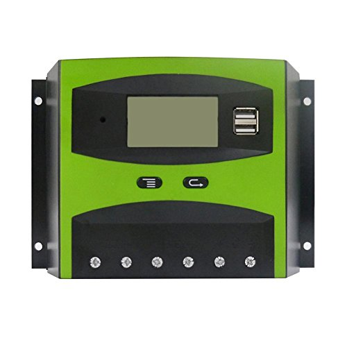 Superaddnow 48V Smart Solar Charge Controller 50A with Automatic Temperature Compensation & Easy-to-Read LCD Screen LD-5048 by Superaddnow