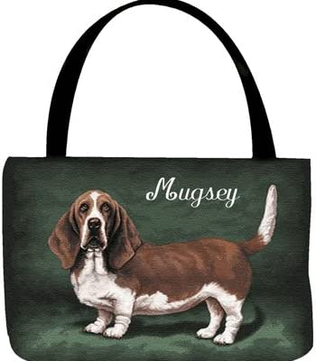 Basset Hound Tote Bag Canvas Reusable Grocery Bag Cute Dog Lover Pet Rescue Animal Mom Dad Birthday Gift Husband Wife Sister Valentines Day