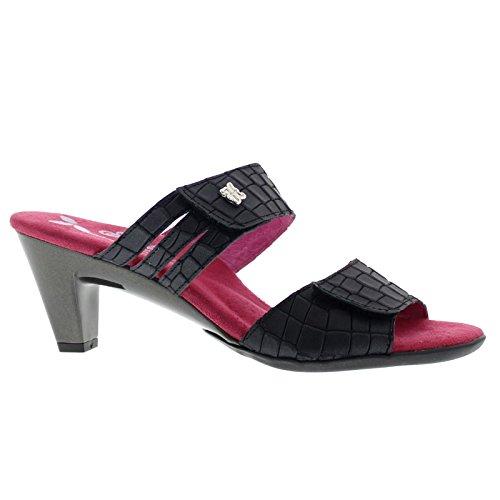 Helle Comfort Womens Ela Leather Sandals Black