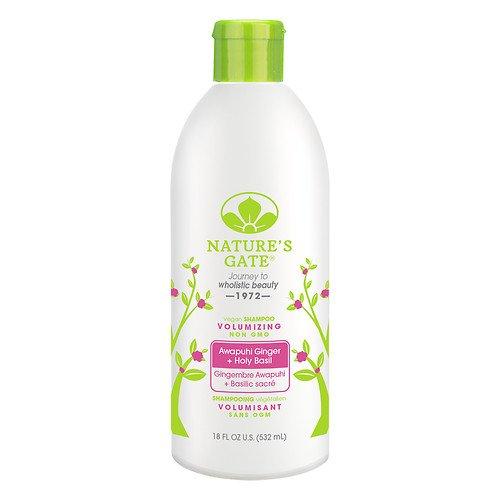 Shampoo Ginger Volumizing - Nature's Gate Awapuhi Ginger + Holy Basil Volumizing Shampoo 18 fl oz (Pack of 4)