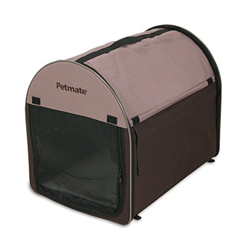 Petmate Portable Pet Home, Small, Dark Taupe/Coffee Grounds Brown (Shelter Petmate)