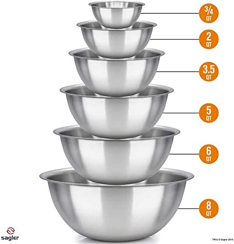 mixing bowls stainless Polished kitchen product image