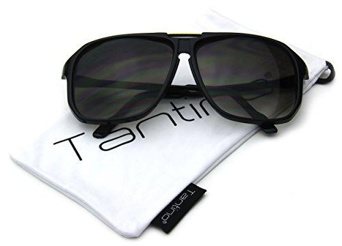 Oversized Square Aviator Sunglasses Evidence Black Frame