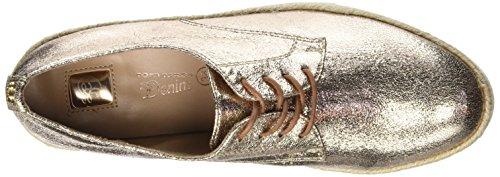Tom Tailor 2797002, Zapatos de Cordones Derby para Mujer Rose (Rose-Gold)