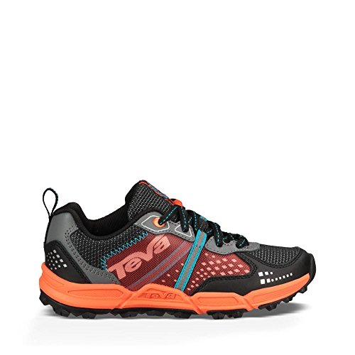 Teva Escapade Low Athletic Trail Shoe (Little Kid/Big Kid), Black/Orange/Blue, 11 M US Little Kid