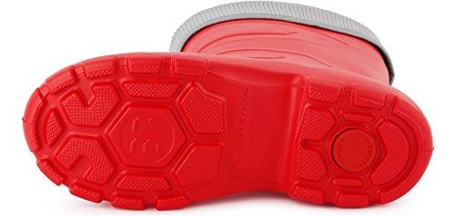 Seguridad Gris Muy Botas Antideslizantes Mujer de Zapatos Ladeheid LALMG879 Agua de Rojo88 Ligeras FAO8qF7x