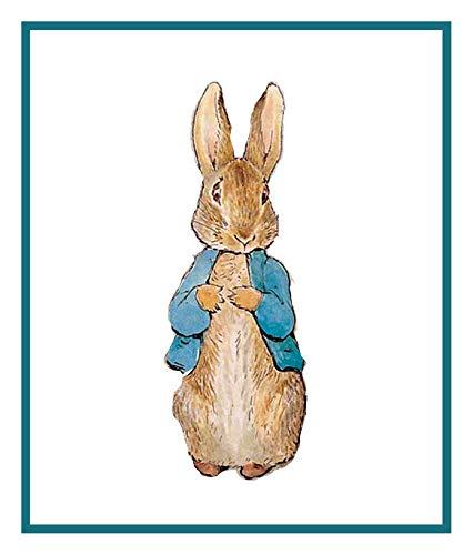 Cross Peter Rabbit Pattern Stitch (Beatrix Potter Peter Rabbit Counted Cross Stitch Pattern)