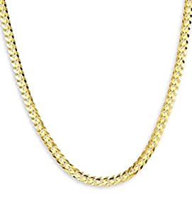 New 14k Yellow Gold Curb Chain Link Necklace 6.8 mm