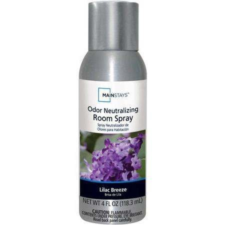 Mainstays Odor Neutralizing Room Spray Lilac Breeze 4 Oz