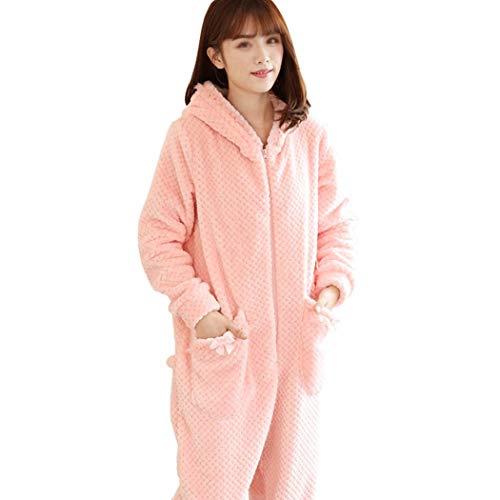 Nuevos E Dibujos Pink Manga Pink Casa Larga En Uso Huifang Una Lindos color Invierno Franela Pieza Animados De Gruesos Xl Pijamas Otoño Tamaño FwSnxYdq