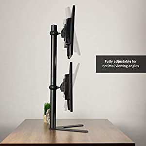 VIVO Dual Computer Monitor Desk Mount Stand Vertical Array