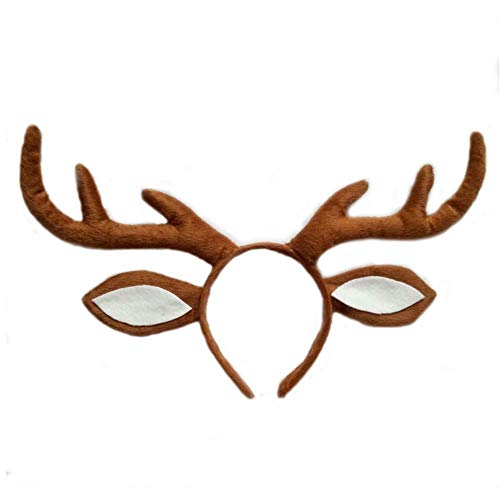 Pagreberya Deer Antlers Headband with Ears - Deer