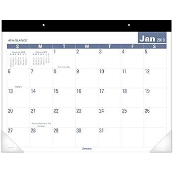 Amazon Com At A Glance 2019 Desk Calendar Desk Pad 21