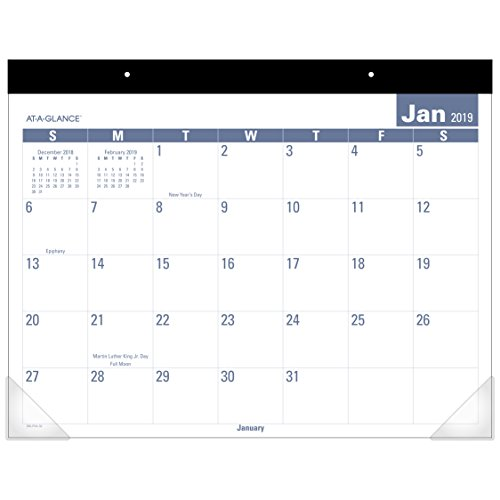 AT-A-GLANCE 2019 Desk Calendar, Desk Pad, 21-3/4