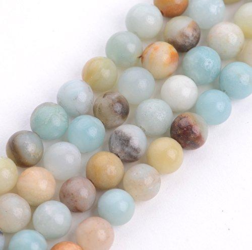 Natural Amazonite Round Beads - 2